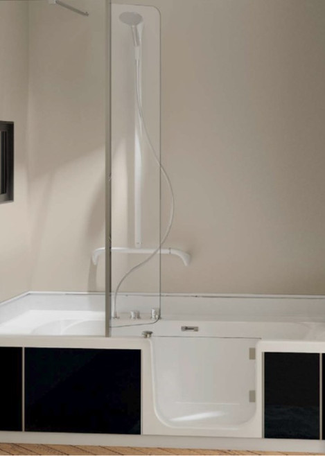 Kineduo Bath Front Panel only Black TAB-