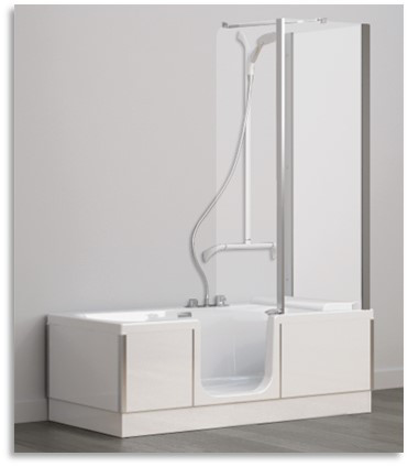 Kineduo Bath Front and 2 end panles Whit