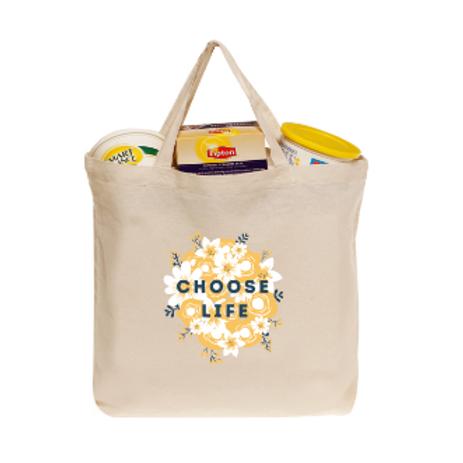 Choose Life Floral Tote Bag
