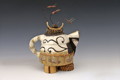Teapot with Seeded Handle