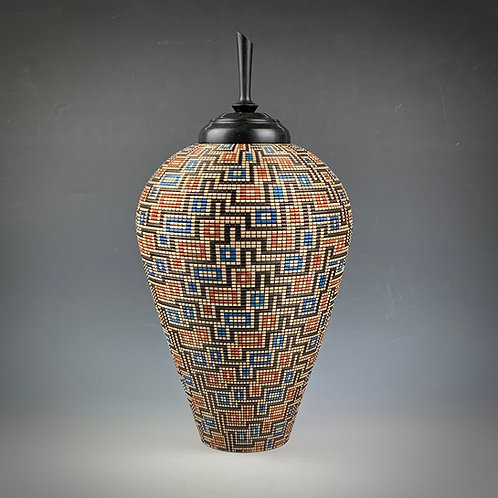 Pottery Illusion Urn #757