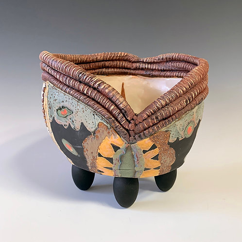 Bowl with Textural Top