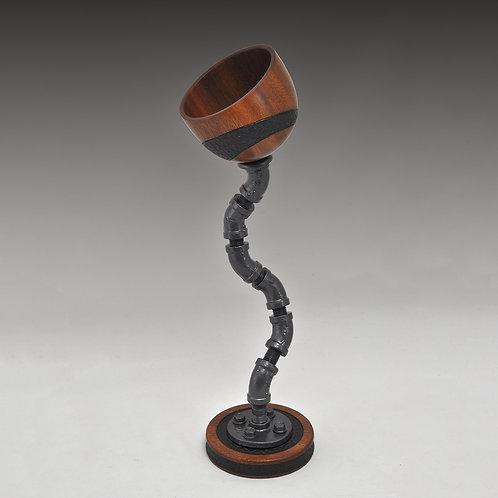 Mahogany Floating Carved Bowl