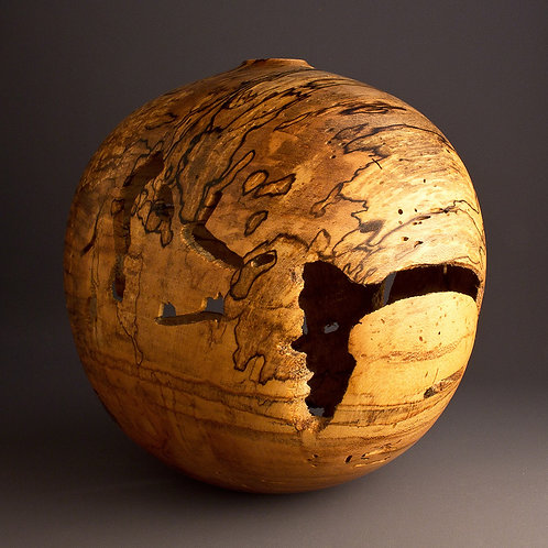 Infested Maple Finished Edge Hollow Form