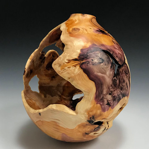 No Glue Required - Yew Root Ball Vessel