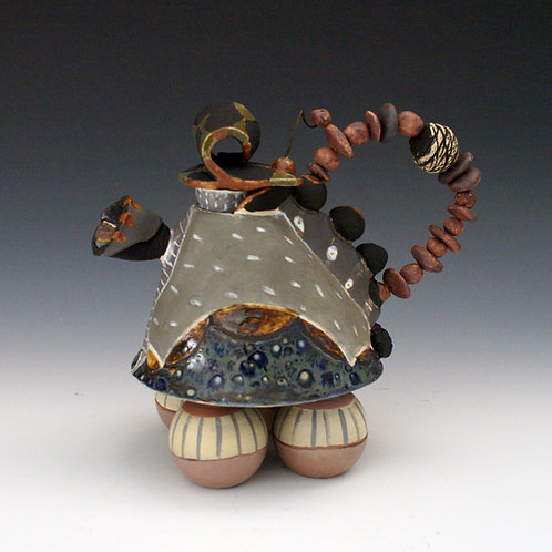 Teapot with Beaded Handle