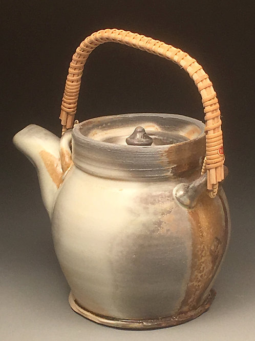 Wood Soda Fired Porcelain Teapot