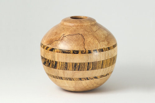 Hollow form with Mexican Rosewood striping