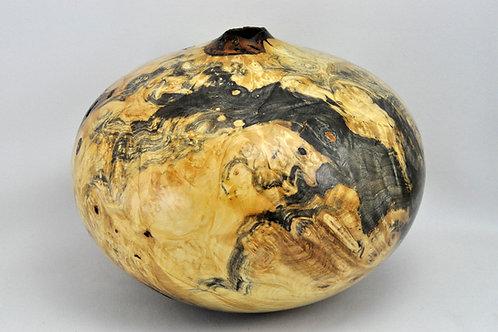 Buckeye Burl Natural Edge Hollow Vessel