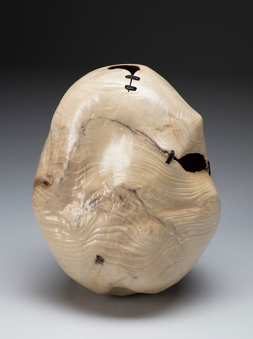 Bleached Madrone Root Stitched Vessel