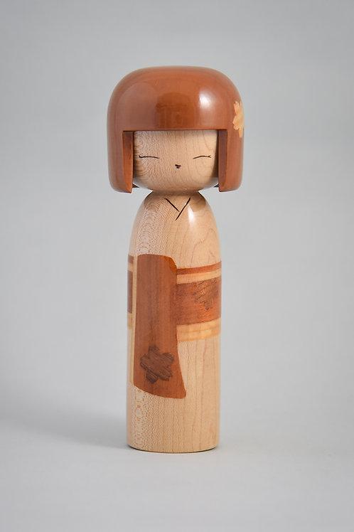 Sakura - Inlaid Kokeshi