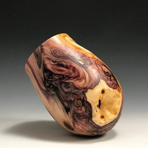 Yew Root Wood Open Vessel
