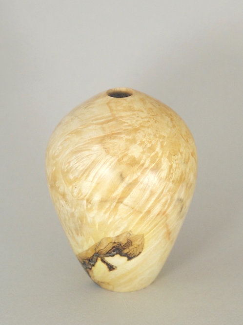 Hollow form turned from Box Elder Burl