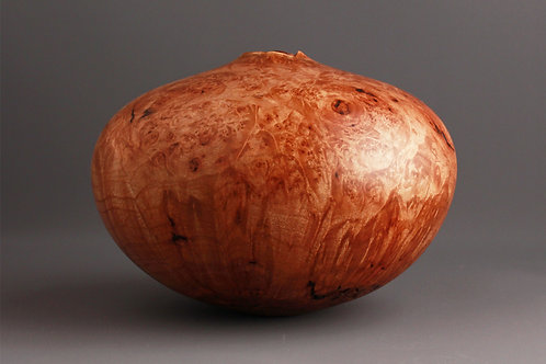 Red Burl Hollow Form