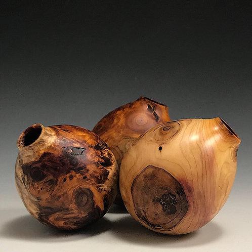 3 Little Vessels - Yew Root Wood
