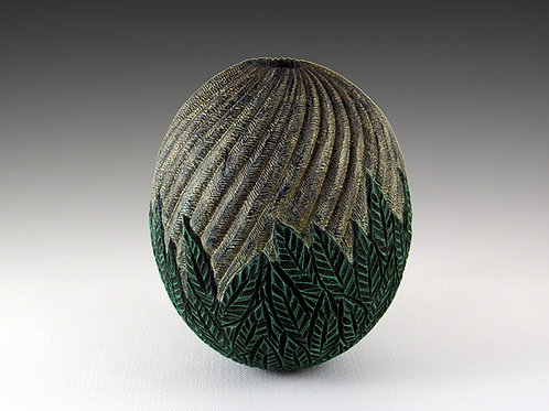 Textured Vessel in Holly