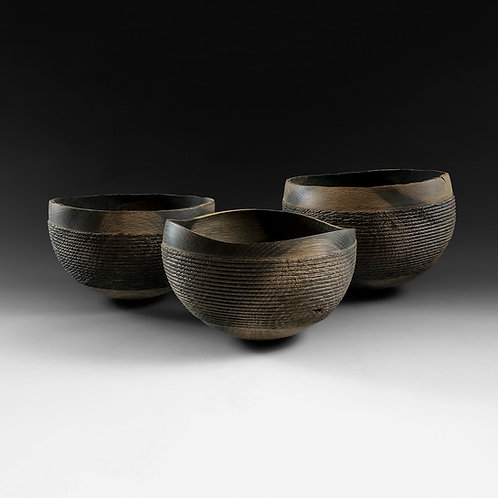 Rusty rope bowls (group of 3)