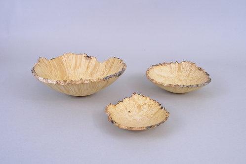Nested Box Elder Bowl Set