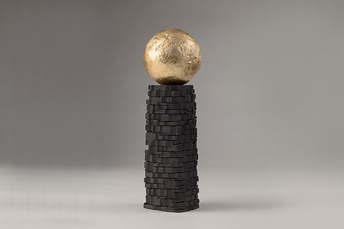 Ancient Tower with Gold Sphere