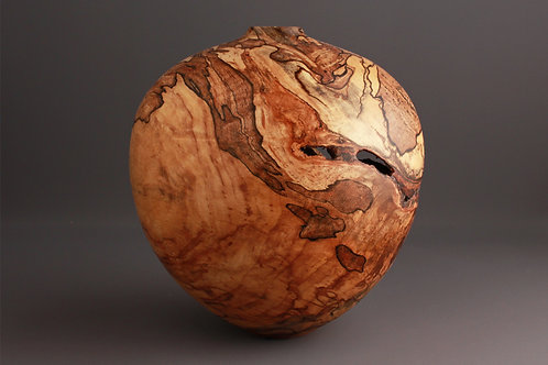 Finished Spalted Maple Hollow Form