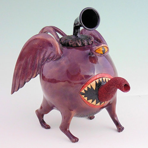 One Eyed, One Horn, Flying Purple People Eater Teapot
