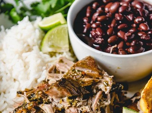 THURSDAY - Mojo Roast Pork, White Rice, Black Beans, Salad