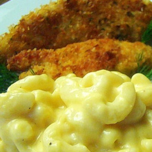 WEDNESDAY - Homemade Chicken Tenders, Macaroni & Cheese, Peas & Carrots, Salad