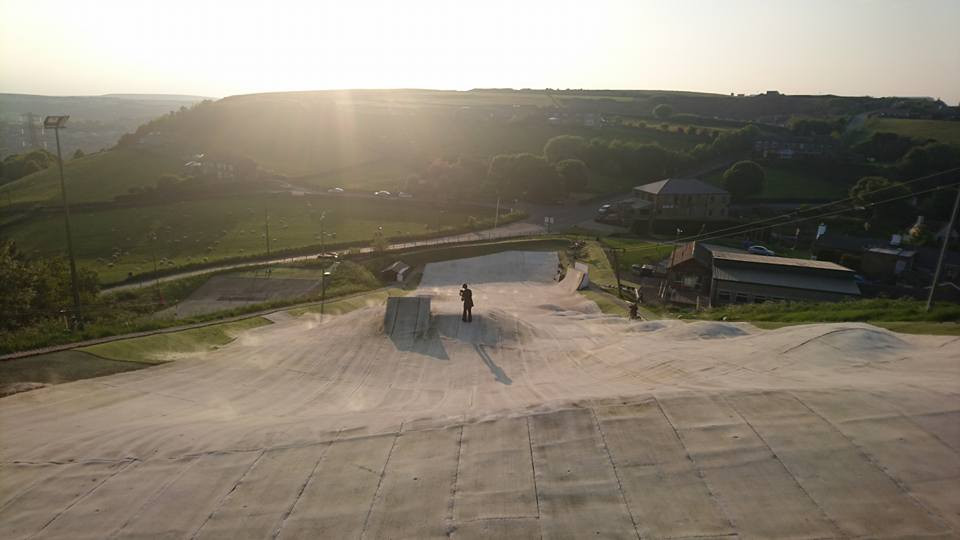 View from Jess' perch at the top of Halifax slope
