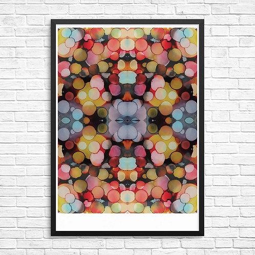 Multicoloured Inkblot Print
