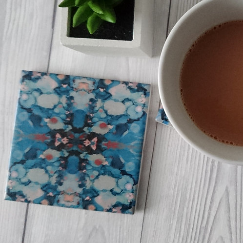 Blue Ceramic Coaster