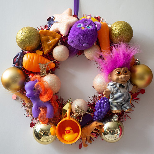 Luxury Kitsch Christmas Wreath Orange