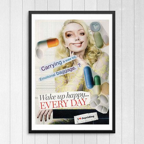 I Love Joyriding Collage Print