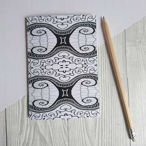 Black and White A6 Notebooks