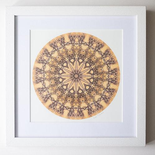 Bones Mandala Framed Print