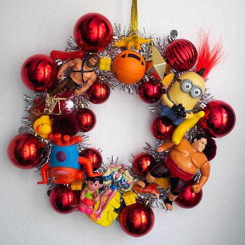 Luxury Kitsch Christmas Wreath Red