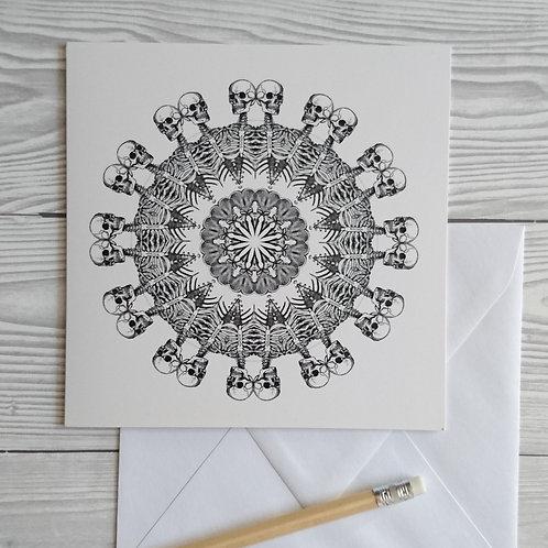 Greeting card and envelope skeleton kaleidoscope