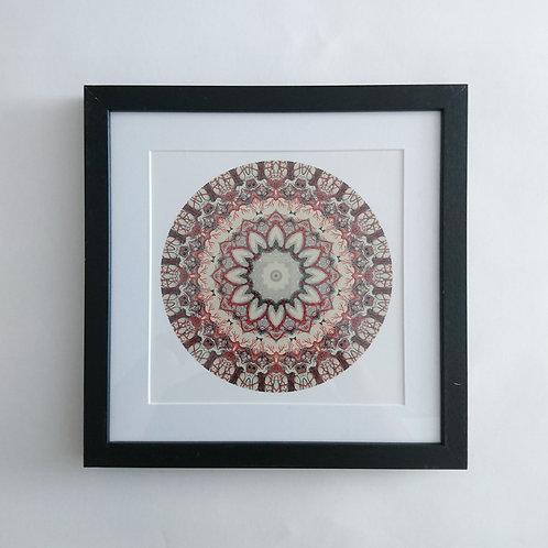 Brain Mandala Framed Print