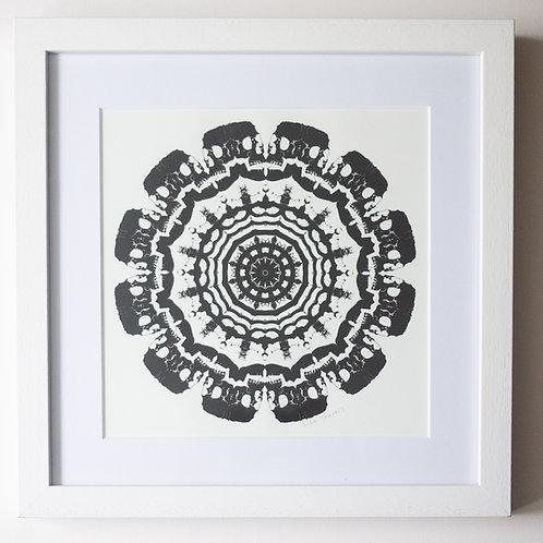 Skull Mandala Framed Print