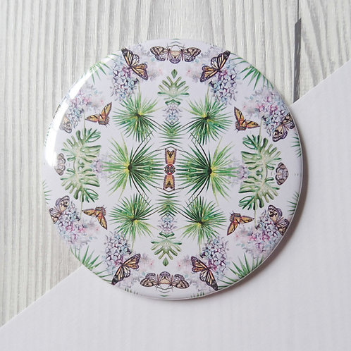 Pocket Mirror butterflies and leaves