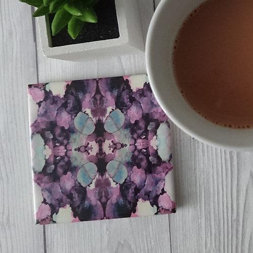 Pink Ceramic Coaster