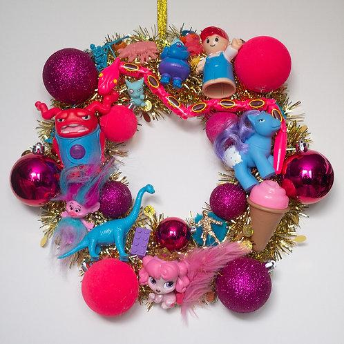 Luxury Kitsch Christmas Wreath Pink