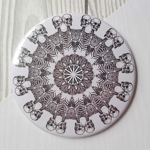 Pocket Mirror skeleton kaleidoscope