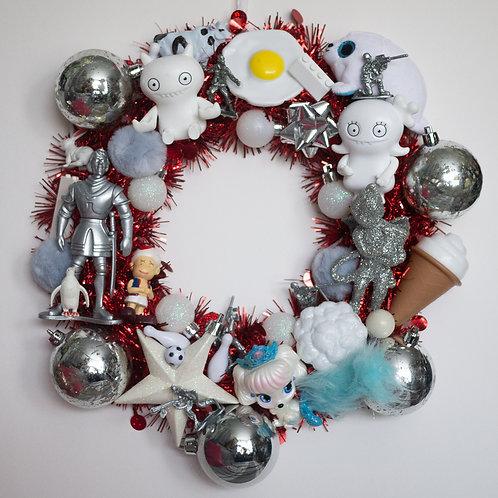 Luxury Kitsch Christmas Wreath White