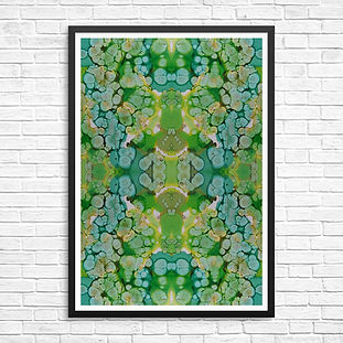 Green inkblot framed.jpg