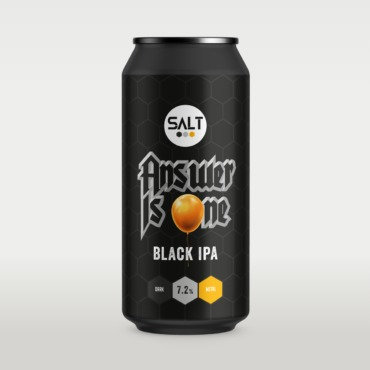 Answer is One (Black IPA) ABV 7.2% (440ml)