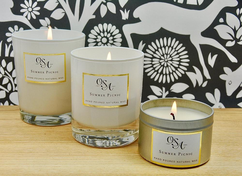 Three candles burning beautifully