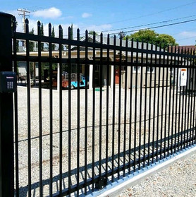 Apache point fence with 4_ post in a black powder coat finish.jpg