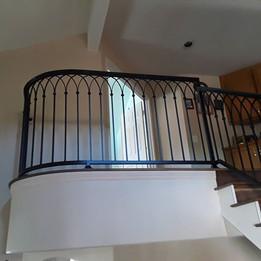 Beautiful clean looking stair rails. Fir