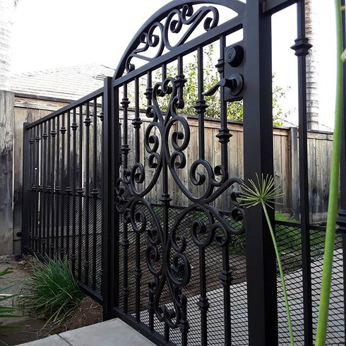 Decorative gate with side panels. #thepr
