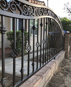 Some nice fence panels with some gates f
